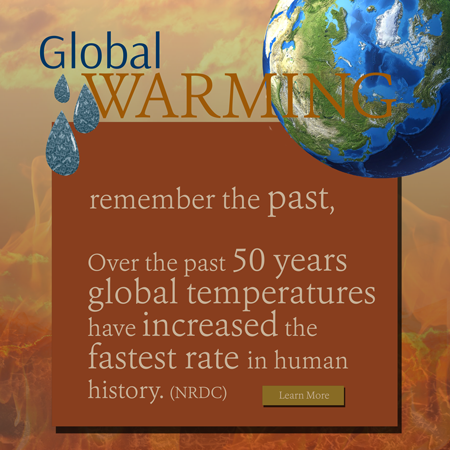 Global Warming interactive ad - remember the past.