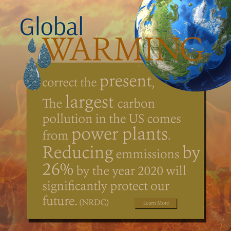 Global Warming interactive ad - correct the present.